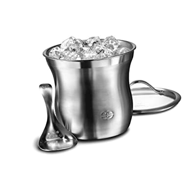 Caphalon Barware Stainless Steel Ice Bucket Set