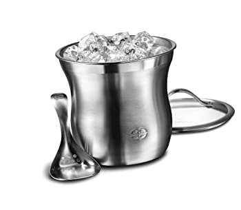 Caphalon Barware Stainless Steel Ice Bucket Set 0