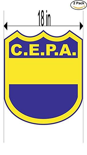 fan products of Club Ernesto Pedro Ancel de Concordia Argentina Soccer Football Club FC 2 Stickers Car Bumper Window Sticker Decal Huge 18 inches