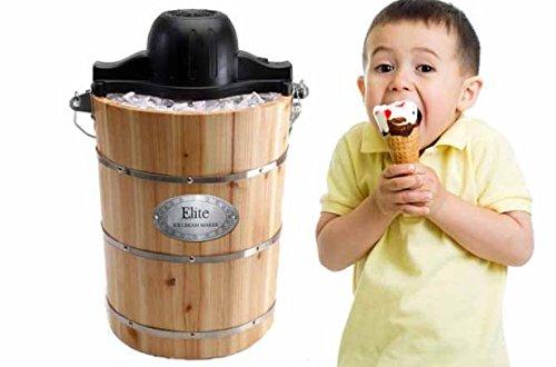 Home Kitchen Gourmet 6 Qt. Old Fashioned Ice Cream Machine Desserts
