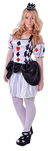 Uk 6-10 Teenage Girls Harlequin Card Costume ()