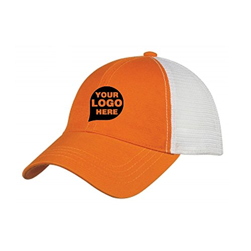 Washed Cotton Mesh Back Cap - 48 Quantity - $6.90 Each - PROMOTIONAL PRODUCT/BULK/BRANDED with YOUR LOGO/CUSTOMIZED (Customized Clothing Promotional)