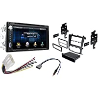 Soundstream VR-651B Double DIN Multimedia Source Unit with 6.5″ LCD Touch Screen/Bluetooth With Car Radio Stereo CD Player Dash Install Mounting Kit