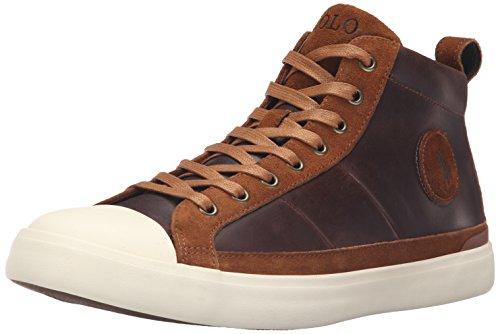 Polo Ralph Lauren Men's Clarke Sport Suede Fashion Sneaker, Tan, 10 D US