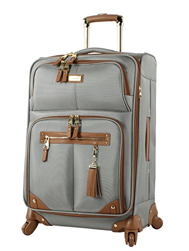 Steve Madden Luggage 24' Expandable Softside Suitcase With Spinner Wheels (24in, Harlo Gray)
