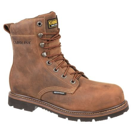 Work Boots, 8-1/2, D, Brown, Steel, PR ()