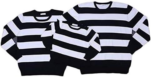 親子 ペアルック セーター おしゃれ 可愛い おそろい 親子服 長袖 大きいサイズ ベビー スウェット ボーダー 親子 ペア 服 男の子 女の子 パパ ママ S M L XL 2XL 3XL 子供 80 90 100 110 120 130