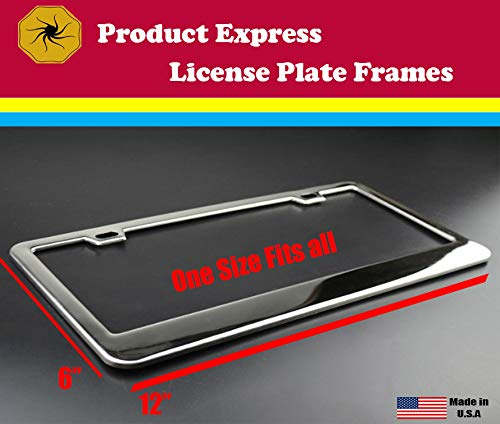 Product Express Personalized Your Own Chrome License Plate Frame Metal Gills
