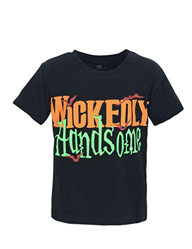 Unique Baby Boys Wickedly Handsome Halloween Short Sleeved T Shirt