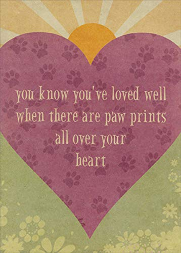 - Loved Well Pawprints Pet Sympathy Card