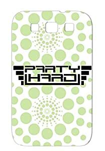 Party Hard Black For Sumsang Galaxy S3 Team Funny Hard Fun Party Cool Celebrate Miscellaneous Loud Crew Club Member Protective Case
