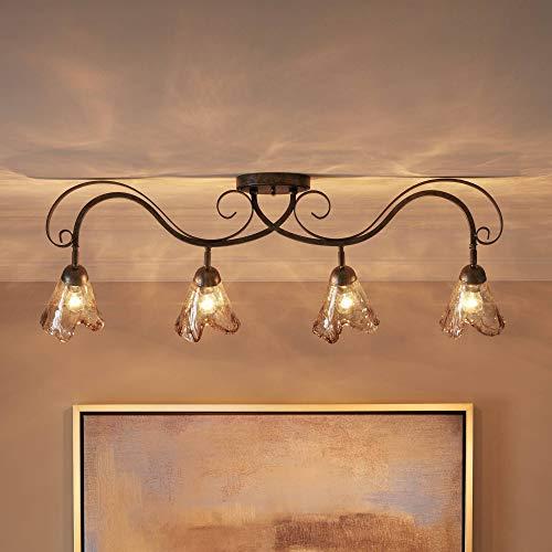 Organic Amber Glass 4-Light Ceiling Track Fixture - Pro Track ()