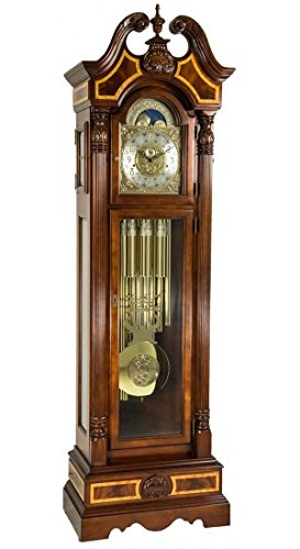 Hermle Foreman Grandfather Clock With Tubular Chime Made in The USA of Solid American Cherry