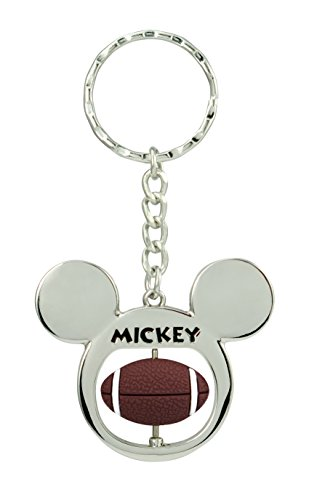 (Disney Mickey Mouse Football Spinner Pewter Key Ring Key Accessory)