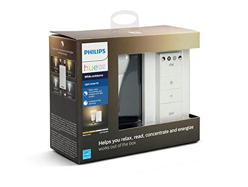 Remote Control Anywhere Kit - Philips Hue Smart Dimmable LED Smart Light Recipe Kit, Installation Free, no Hub Required, (Works with Alexa Apple HomeKit and Google Assistant)