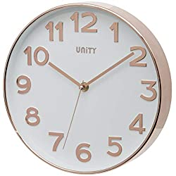 Unity Bakewell Rose Gold Wall Clock-10-Inch