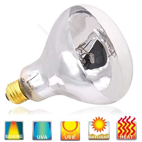 UVA UVB Mercury Vapor Bulb - 100W Sun Simulating Bulb High Intensity UVA UVB Light Heat Bulb for Reptile and Amphibian Use (100 - Lamp Vapor Mercury