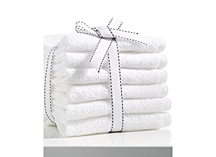 Fresh From Loom 6 Piece 450 GSM Cotton Face Towel Set - White