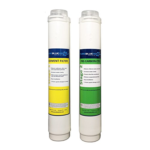 2 Pack Twist Lock Replacement Filters (Blue Pure Water Filter compare prices)