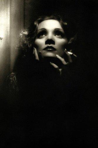 Marlene Dietrich in Shanghai Express dramatic b/w moody portrait Silverscreen