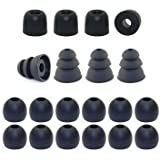 Medium - Earphones Plus brand replacement earphone tips custom fit assortment: memory foam earbuds triple flange ear tips and standard replacement ear cushions (Please see product details for connector sizes)