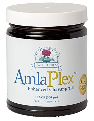 Ayush Herbs Amla Plex, Certified Organic Enhanced Chanvanprash, All-Natural Immune Support & Tonic, Bowel Regulating, Potent Source of Vitamin C & Antioxidants, 10.6 Ounce Jar