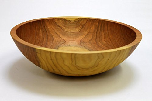15 Inch Solid Cherry Wood Salad Bowl - Serves 5-8 - Holland Bowl Mill by Holland Bowl Mill