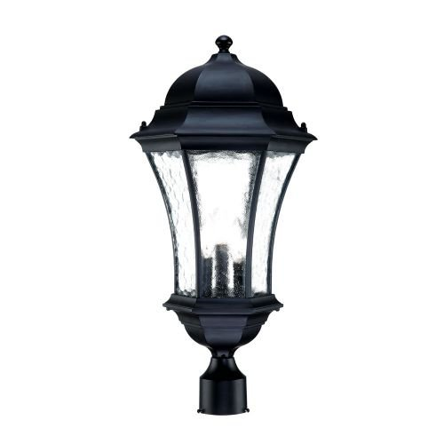 Acclaim 3627BK Waverly Collection 3-Light Post Mount Outdoor Light Fixture, Matte Black For Sale