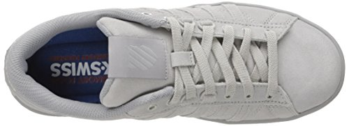 K-swiss Womens Hoke Fashion Sneaker Gabbiano Grigio / Argento Applique