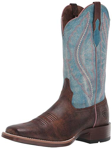 Ariat Women's Women's Primetime Western Boot, tack Room Chocolate/Lapis, 7 B US