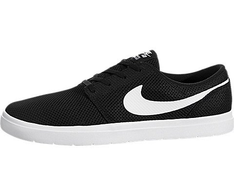 NIKE Men's Sb Portmore II Ultralight Black/White Skate Shoe 9 Men US (2 Mens Skateboard Shoes)