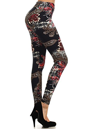 Leggings Depot NEW High Waist Popular Print Women's Leggings Pants Style Batch2 (N348)