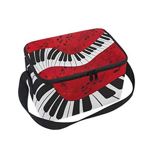 Para Abstracto Almuerzo De De Más Picnic Frescas Bolsa Con Las Hombro El Puntuaciones Piano Fiambrera Música Correa De An4xxWfq1