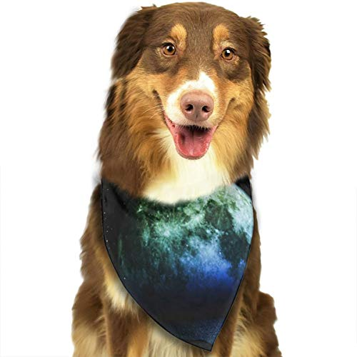 Pet Scarf Dog Bandana Bibs Triangle Head Scarfs Moon Over Ocean Accessories for Cats Baby Puppy]()