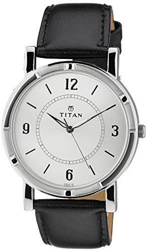 Titan Analog White Dial Men's Watch-NL1639SL03