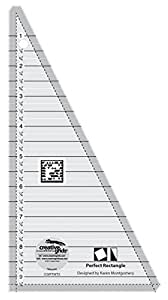 Creative Grids 9-1/2 inch Perfect Rectangle Triangle Quilting Ruler