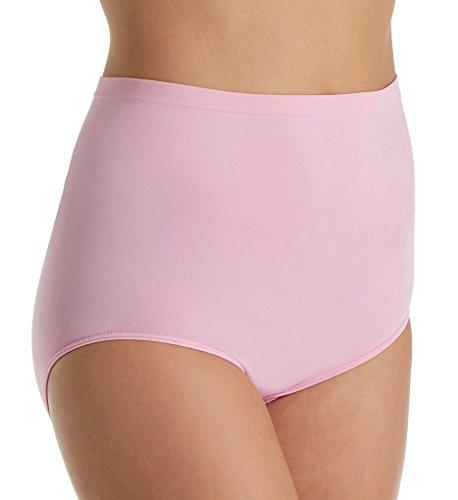 Rhonda Shear Ahh High Waisted Seamless Brief Panty (4230) 3X/Pink