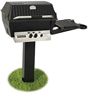 product image for Broilmaster H4 Grill Package, Includes 2-Piece Black In-Ground and Side Shelf Post Natural Gas