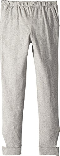 Chaser Kids Girl's Jersey Vented Slouchy Pants (Big Kids) Heather Gray (Capri Low Rise Jersey)