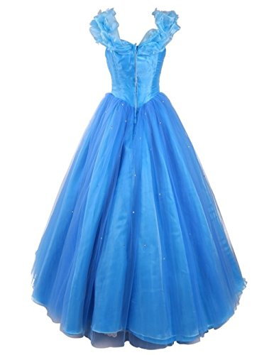 Dress Royal Quinceanera Women's Cinderella Gown Ball Prom Annie's Blue Bridal Dresses H8qHRz