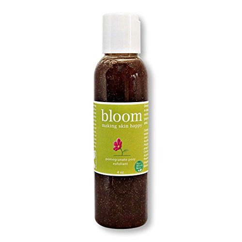 Blood Facial Orange Cleanser (Pomegranate Posy Face Exfoliant by Bloom Making Skin Happy. Organic Natural Face Cleanser. Anti-inflammatory, Pore Minimizing. Rich in Vitamin C, Minerals & Antioxidants. Vegan, Cruelty Free.)