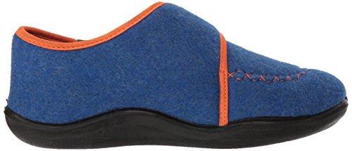Kamik Boys' Cozylodge Slipper, Blue/Orange, 5 Medium US Toddler - Image 7