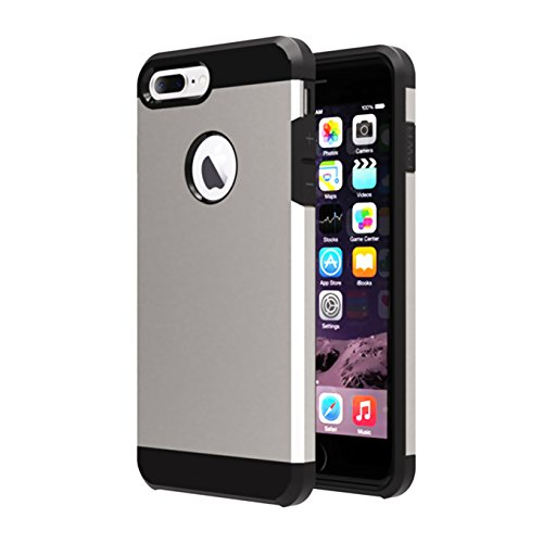 (iPhone 7 Plus Case,ibarbe Heavy Duty Extreme Hybrid Silicone Rubber Plastic Protection Shock-Absorption Bumper Hard PC Anti-Scratch Drops Bumps Shock Slim Fit Covers for Apple iPhone 7 Plus (2016))