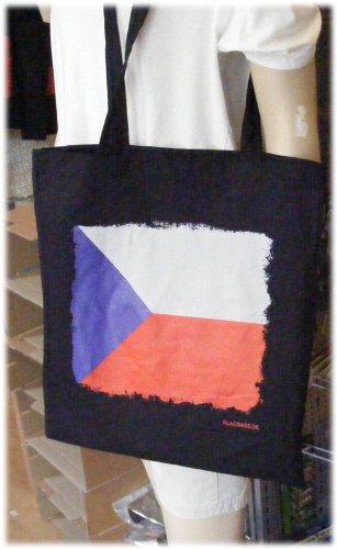 Tschechien - Flagbag Tasche mit Flagge Schwarz