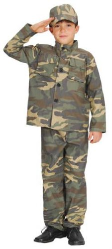 [Army Boy Action Commando Boys Fancy Dress Costume Ages 5 to 10 Years (8-10 years)] (9 To 5 Costumes)