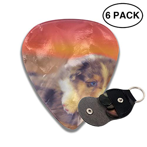 Colby Keats Guitar Picks Plectrums Cute Dogs Puppy Play Game Classic Electric Celluloid Acoustic for Bass Mandolin Ukulele 6 Pack 3 Sizes .46mm]()