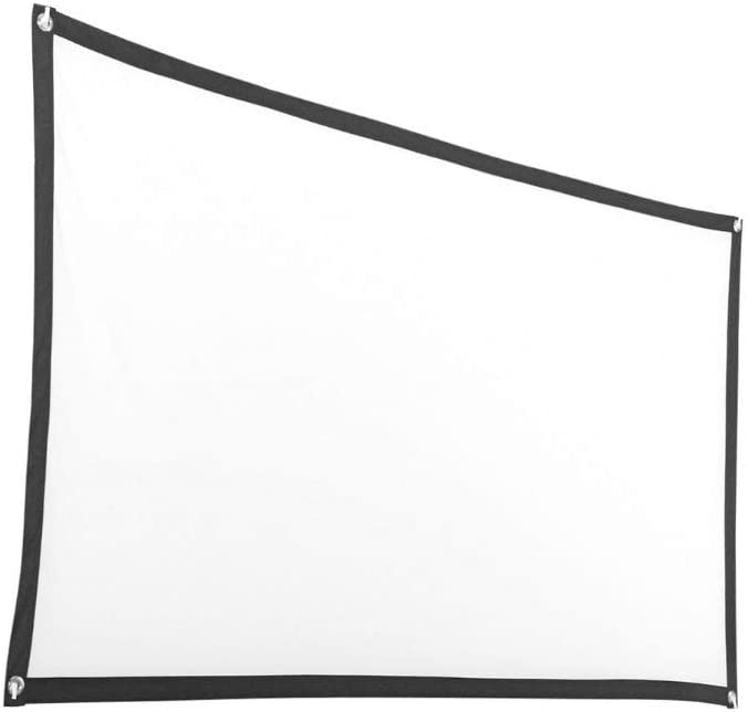 TOPTOO 16:9 Projector Screen 72inches Portable High Definition Projection Screen for Home Theater