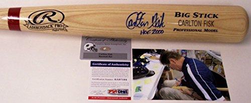 Carlton Fisk Autographed Hand Signed Adirondack Pro Wood Professional Model Baseball Bat - with HOF 2000 Inscription - ()