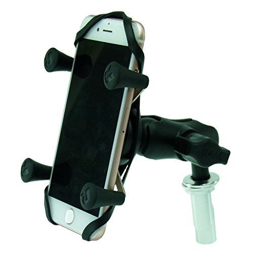 17.5-20.5mm  Motorcycle Fork Stem Yoke Mount & RAM X-Grip Ho