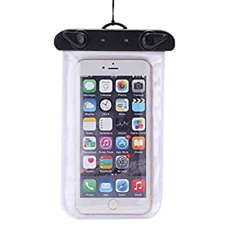 Kuke Universal Waterproof Case Dry Bag Dust Dirt Proof For iPhone 6, 6 plus, 6s, Samsung Galaxy S6 and S6 Edge S5 S4, Samsung Note 4,3,2;Touch Responsive Transparent